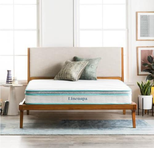 Linenspa 8-Inch memory foam mattress