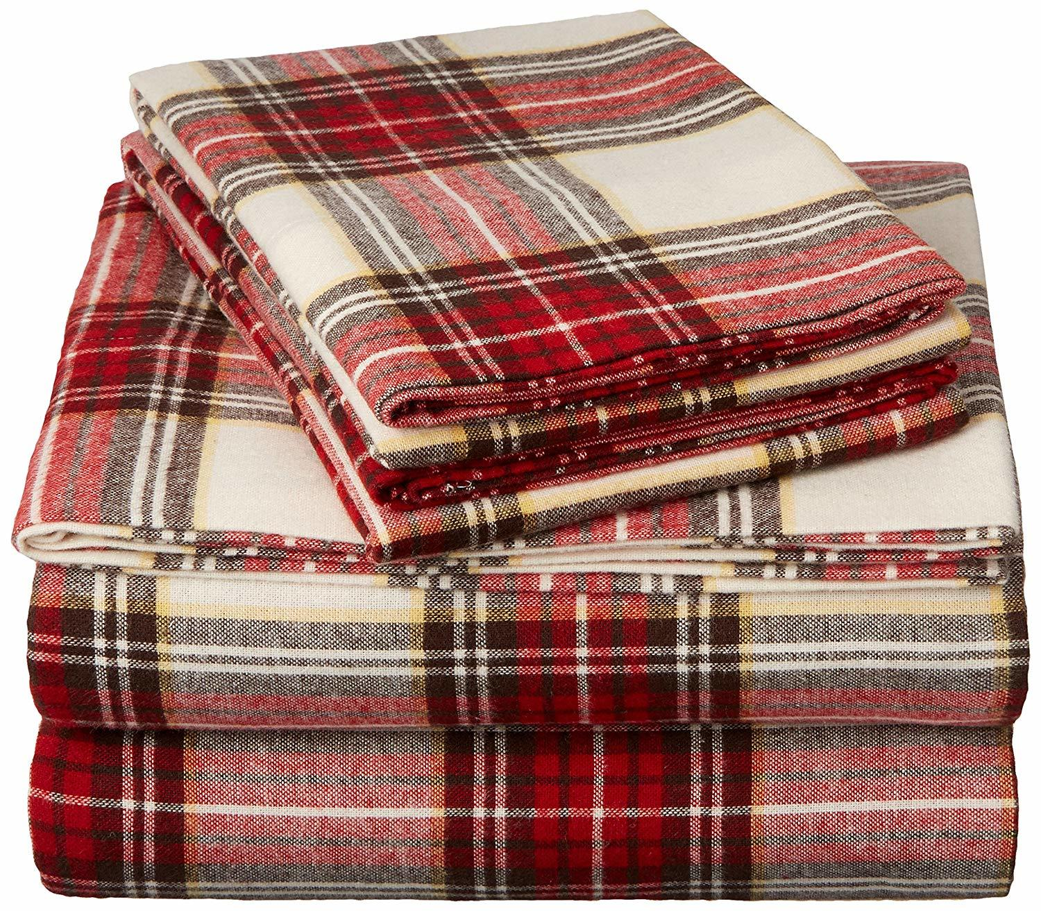 Extra Soft Heavyweight Double Brushed 100/% Cotton Velvet Flannel Sheet Set