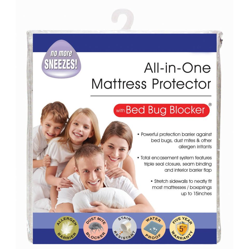 All in One Original Bed Bug Blocker Zippered Mattress Cover Protector