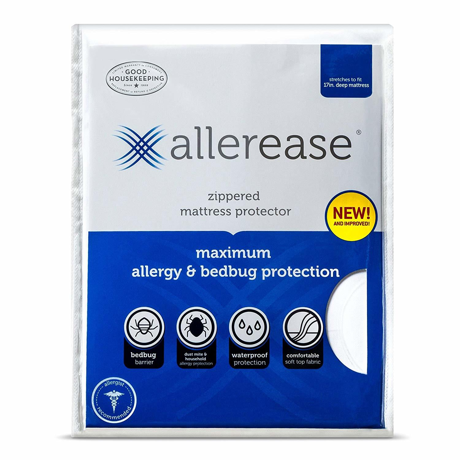 AllerEase Ultimate Protection and Comfort Zippered Mattress Protector