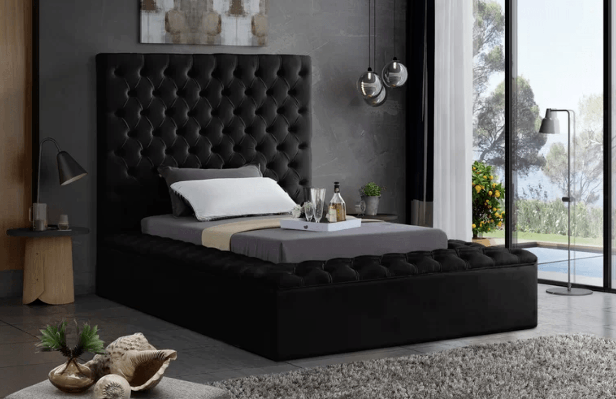 Best Storage Beds; Ruthann Upholstered Storage Platform Bed