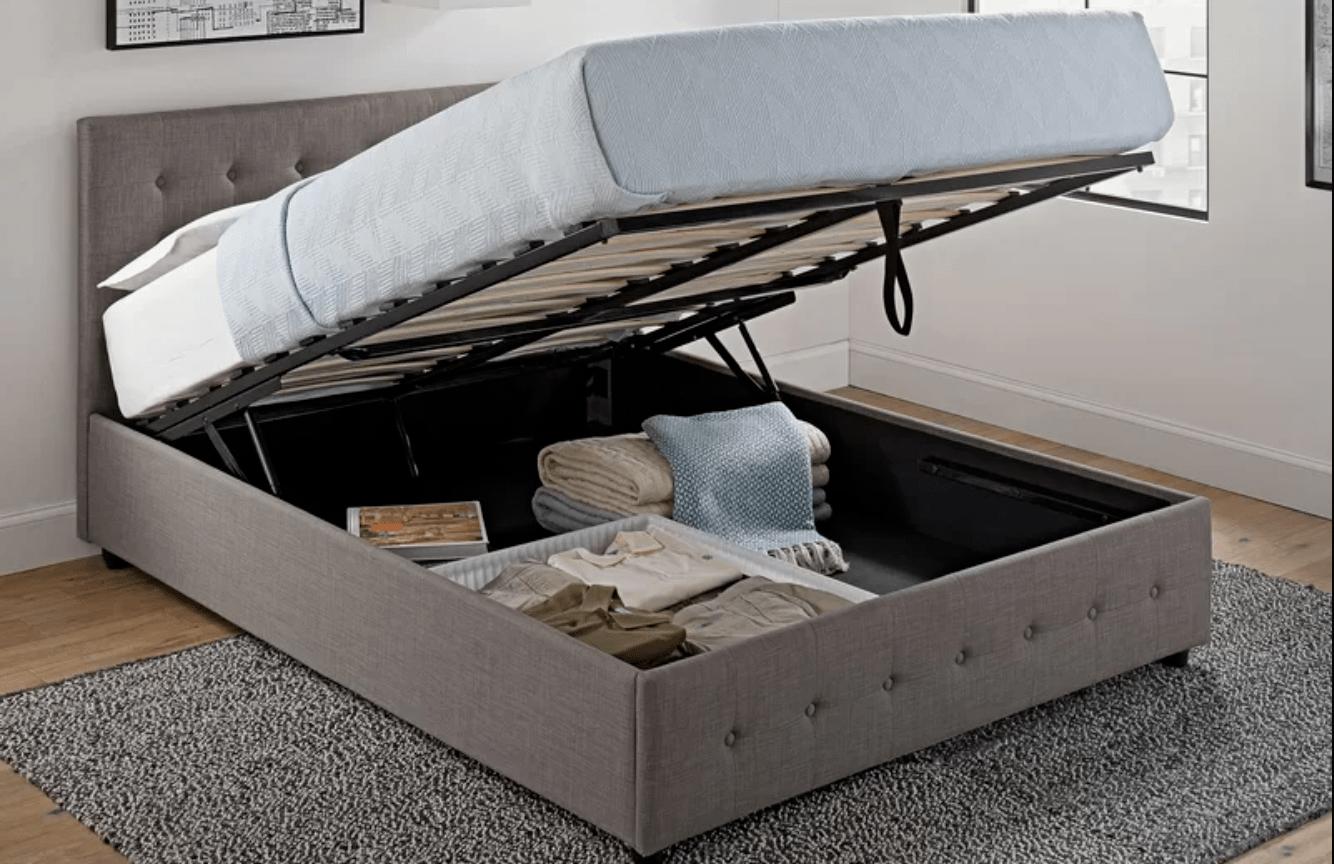 Best Storage Beds; Morphis Upholstered Storage Platform Bed