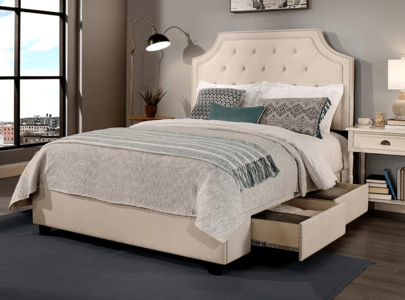 Best Storage Beds; Devitt Storage Platform Bed