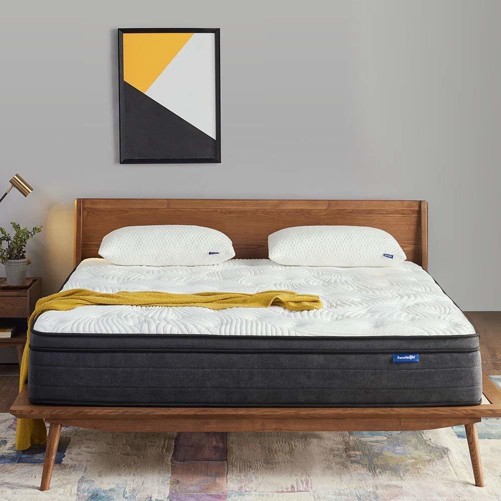 Sweetnight 12-Inch Plush Pillow Top Hybrid Mattress