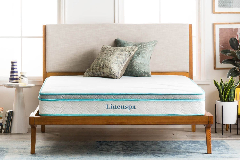 LinenSpa 8- inch Memory Foam and Innerspring Hybrid Mattress