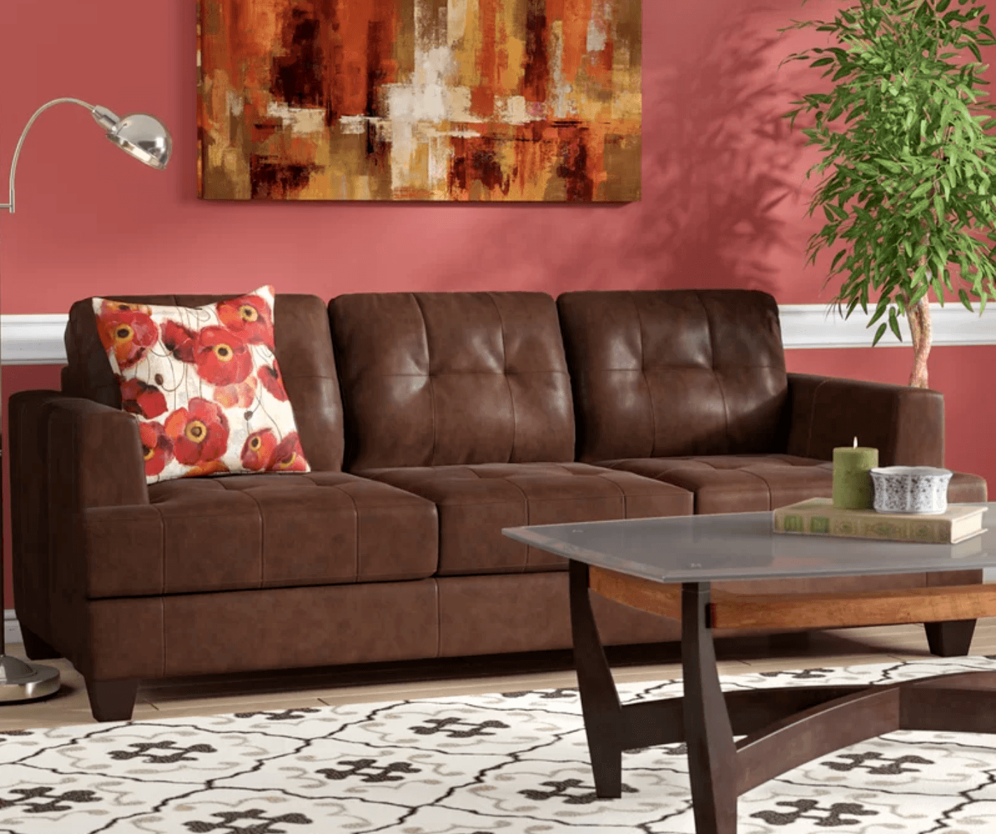 Arine Faux Leather Sofa